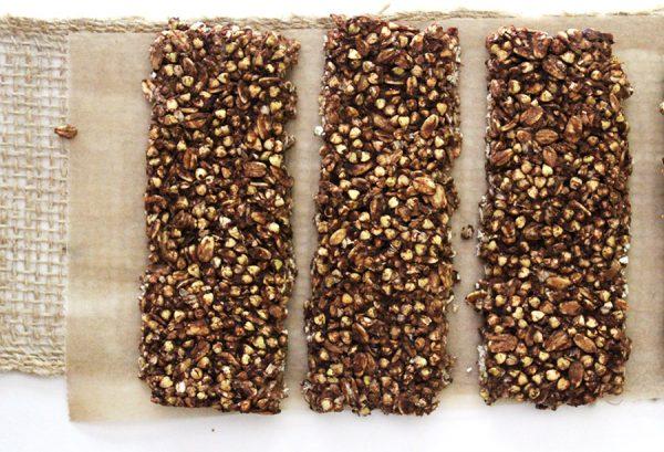 Spouted Buckwheat Chocolate Granola Bars