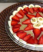 Strawberry Banana Cream Pie   Raw Vegan