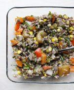 Country Rice, Veggies & Chia Seed Gravy