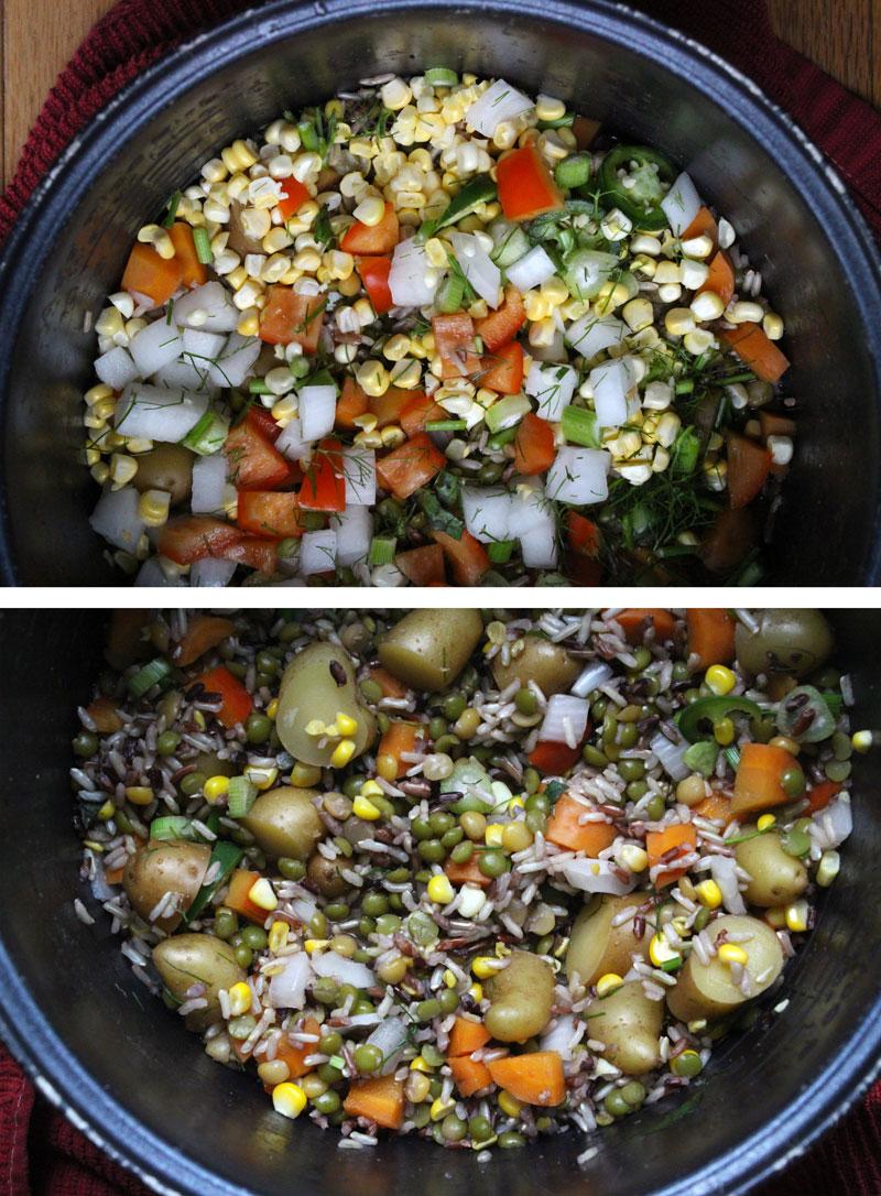 Country Rice, Veggies & Gravy