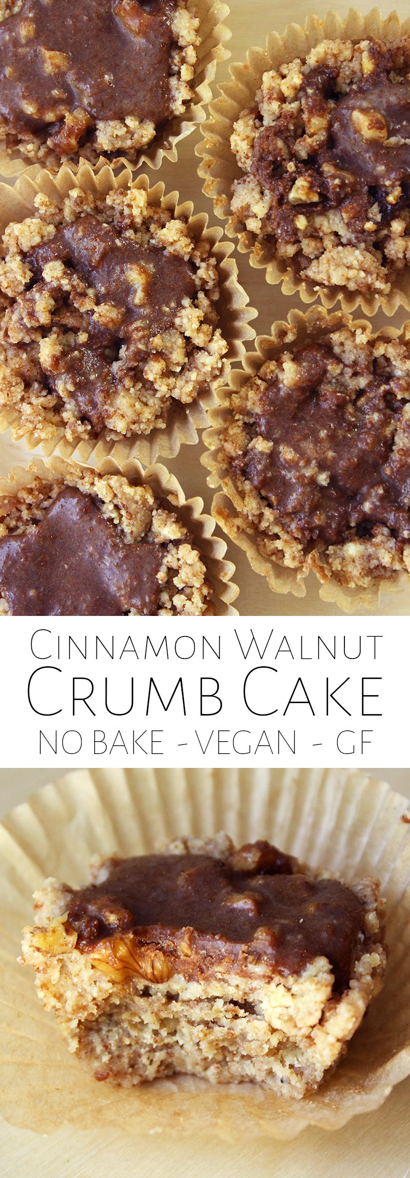 No Bake Cinnamon Walnut Crumb Cake