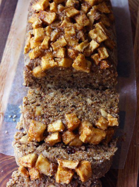 Raw Vegan Cinnamon Apple Bread