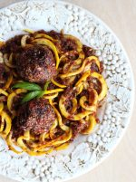 Zoodles, Marinara & Veggie Balls