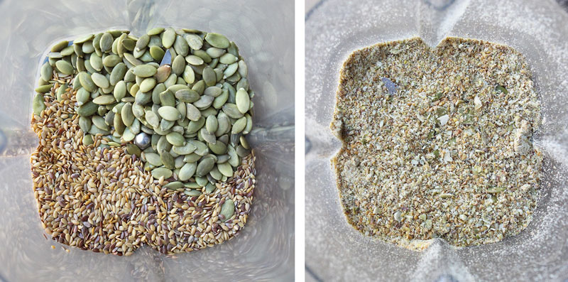 flax & pumpkin seeds