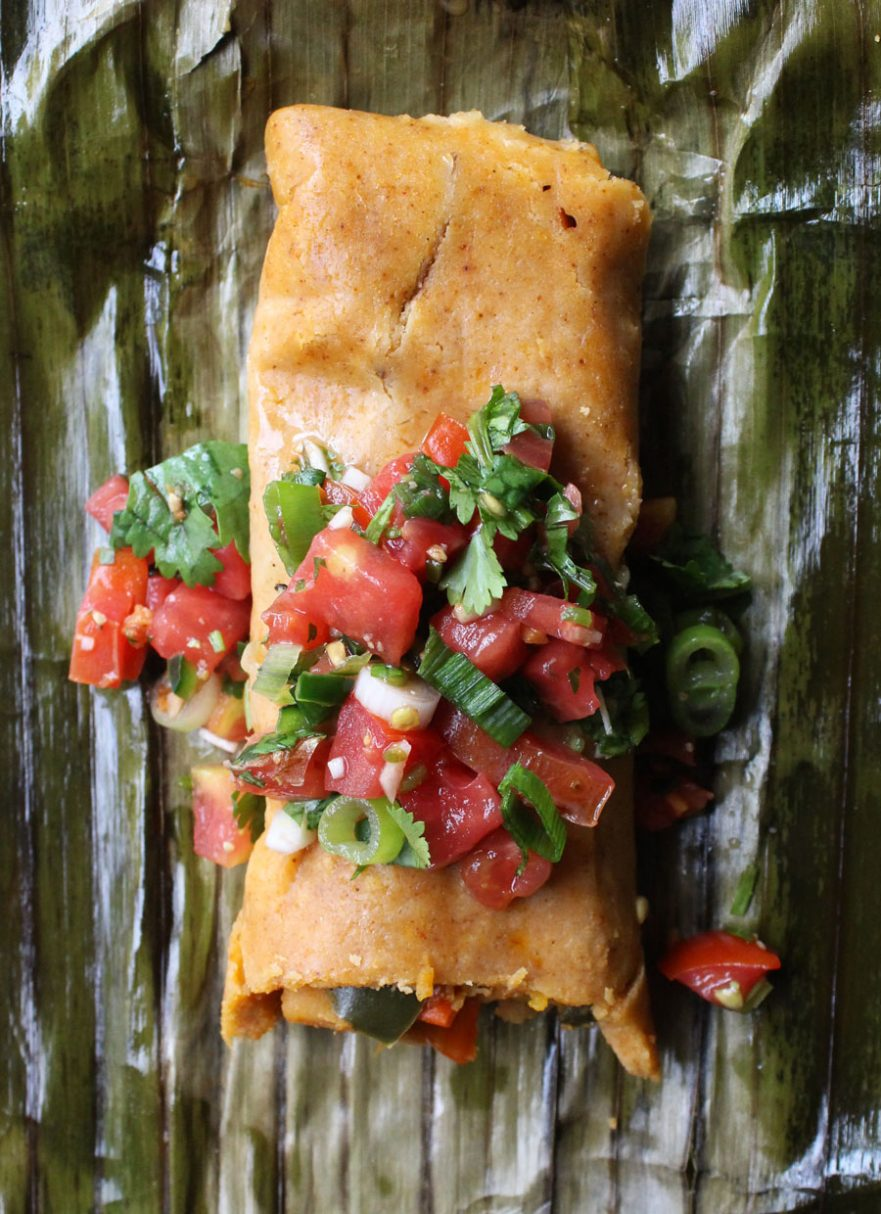 Sweet & Spicy Vegan Tamale