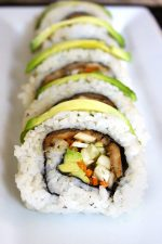 Vegan Sushi with Pom Pom Mushrooms