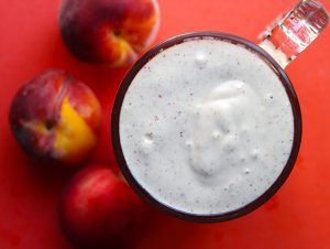 Peaches & Cream Milkshake | Vegan