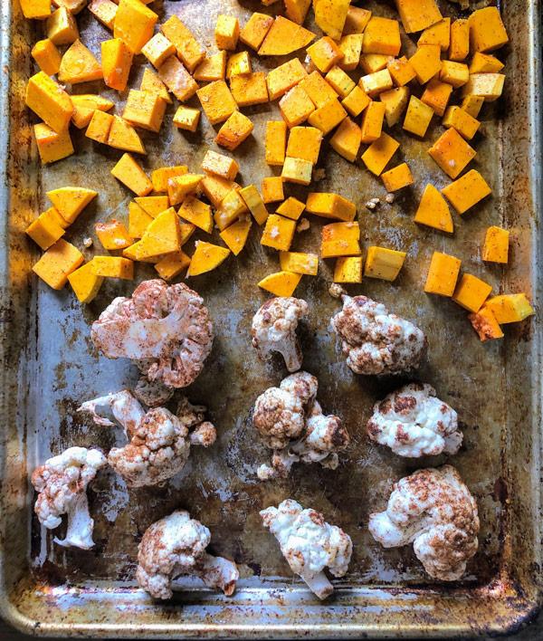 Roasted Buffalo Cauliflower & Butternut Squash
